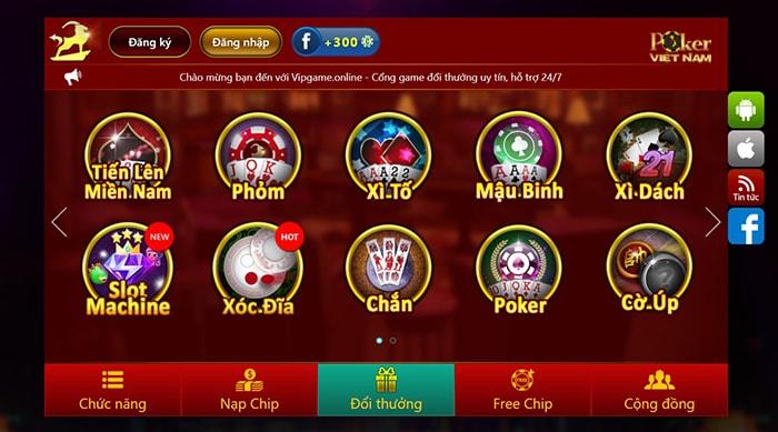 Chơi game poker - Vipgame